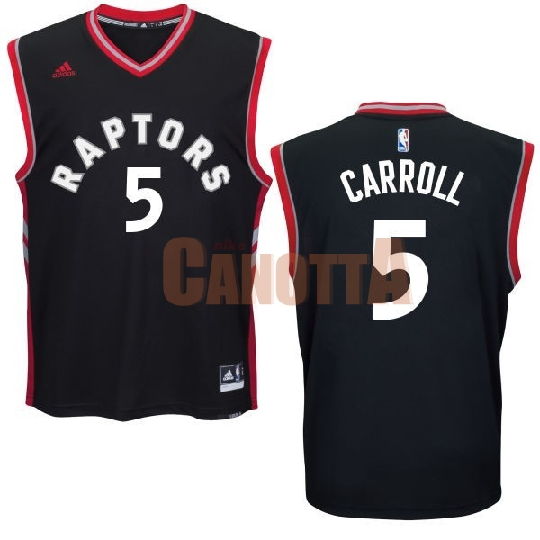 Replica Maglia NBA Toronto Raptors NO.5 DeMarre Carroll Nero