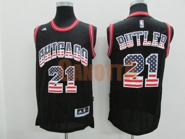 Replica Maglia NBA USA Flag Special Edition NO.21 Butler Nero