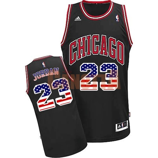 Replica Maglia NBA USA Flag Special Edition NO.23 Jordan Nero