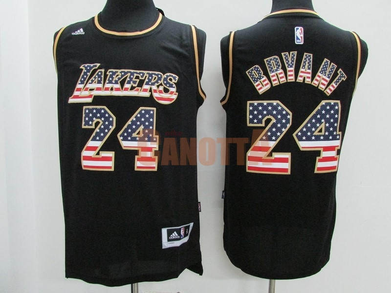 Replica Maglia NBA USA Flag Special Edition NO.24 Bryant Nero