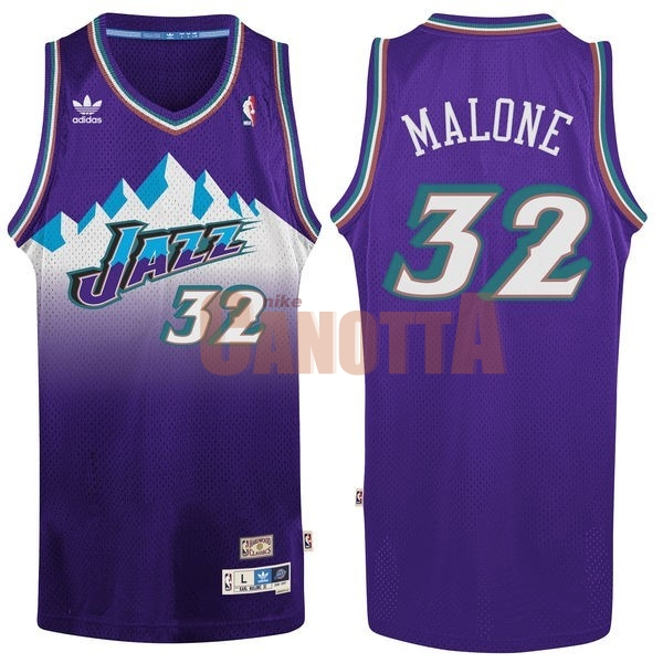 Replica Maglia NBA Utah Jazz NO.32 Karl Malone Porpora