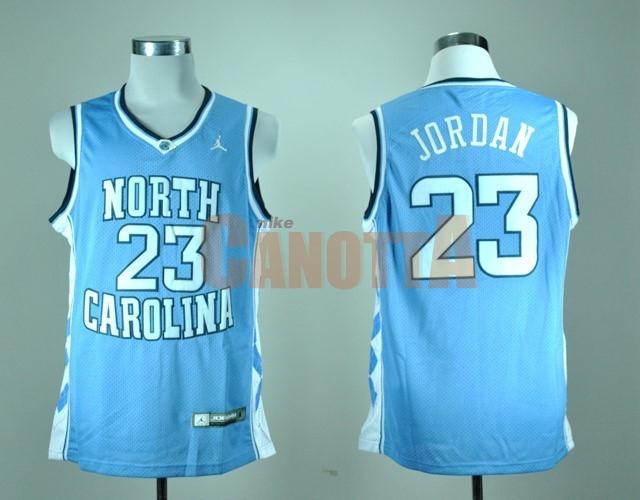 Replica Maglia NCAA North Carolina NO.23 Michael Jordan Blu  b8306ea4ca9f