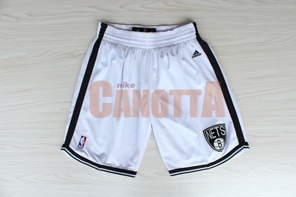 Replica Pantaloni Basket Brooklyn Nets Bianco