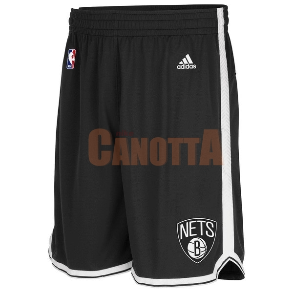 Replica Pantaloni Basket Brooklyn Nets Nero