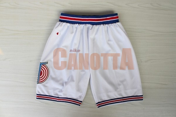 Replica Pantaloni Basket Film Basket Tune Squad Bianco