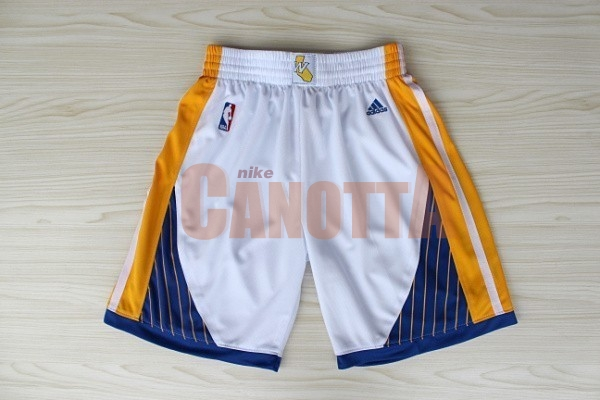 Replica Pantaloni Basket Golden State Warriors Bianco