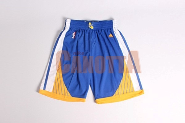 Replica Pantaloni Basket Golden State Warriors Blu