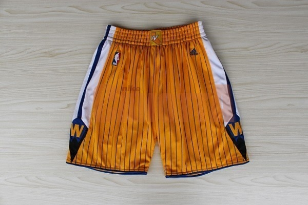 Replica Pantaloni Basket Golden State Warriors Giallo