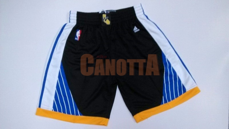 Replica Pantaloni Basket Golden State Warriors Nero