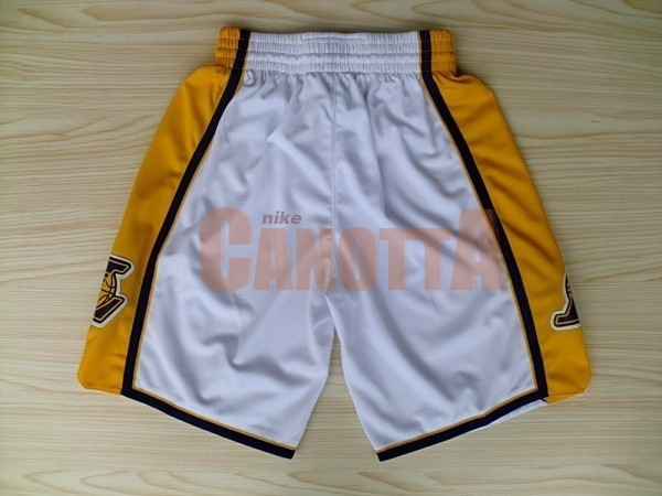 Replica Pantaloni Basket Los Angeles Lakers Bianco 2018
