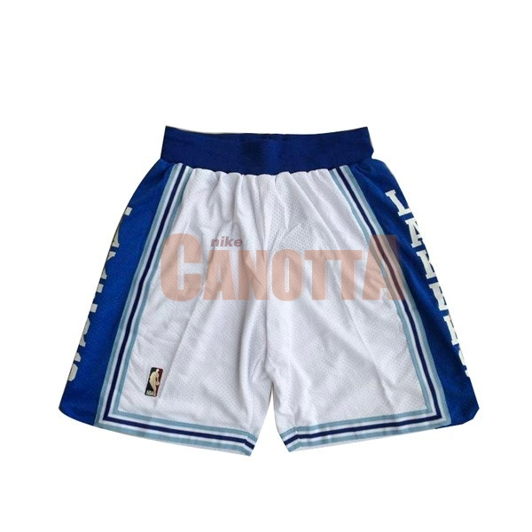 Replica Pantaloni Basket Los Angeles Lakers Bianco