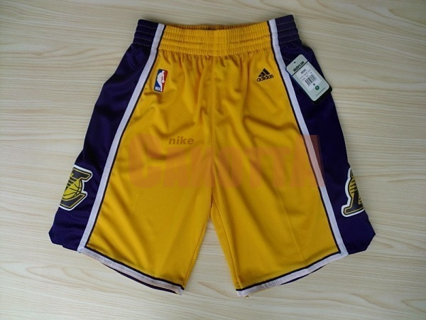 Replica Pantaloni Basket Los Angeles Lakers Giallo 2018