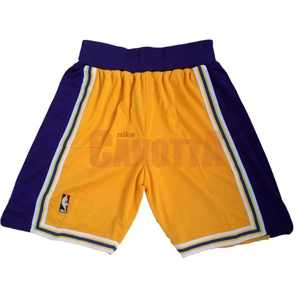 Replica Pantaloni Basket Los Angeles Lakers Giallo