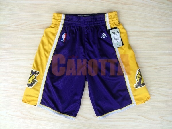 Replica Pantaloni Basket Los Angeles Lakers Porpora 2018