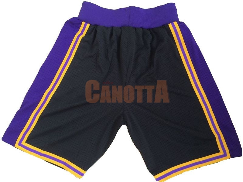 Replica Pantaloni Basket Los Angeles Lakers Porpora