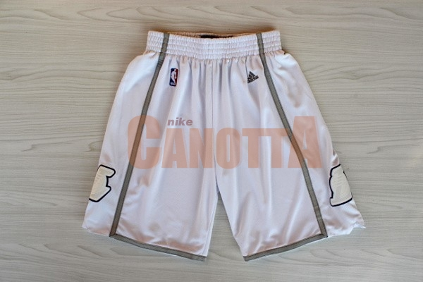 Replica Pantaloni Basket Los Angeles Lakers Retro Bianco