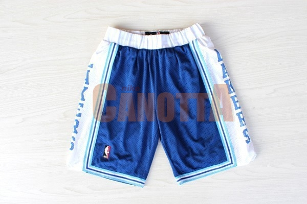 Replica Pantaloni Basket Los Angeles Lakers Retro Blu