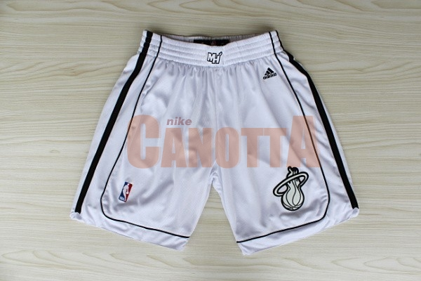 Replica Pantaloni Basket Miami Heat Bianco