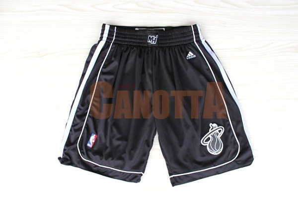 Replica Pantaloni Basket Miami Heat Nero