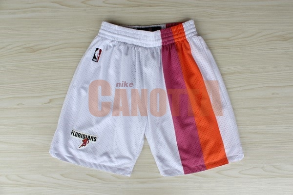 Replica Pantaloni Basket Miami Heat Retro Floridians Bianco