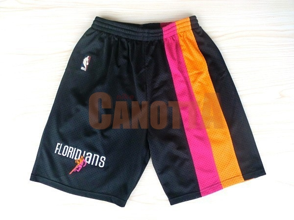 Replica Pantaloni Basket Miami Heat Retro Floridians Nero