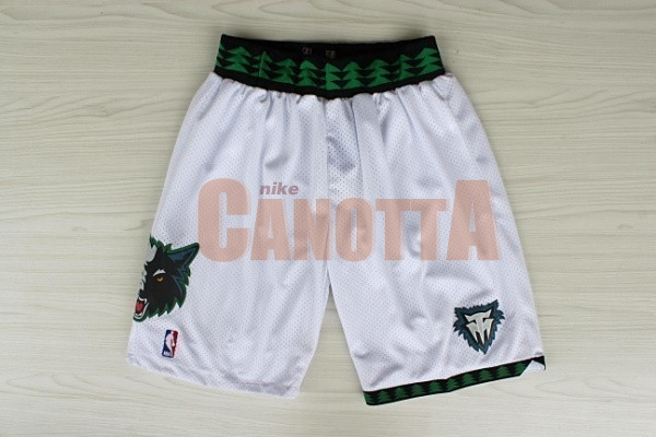 Replica Pantaloni Basket Minnesota Timberwolves Retro Bianco