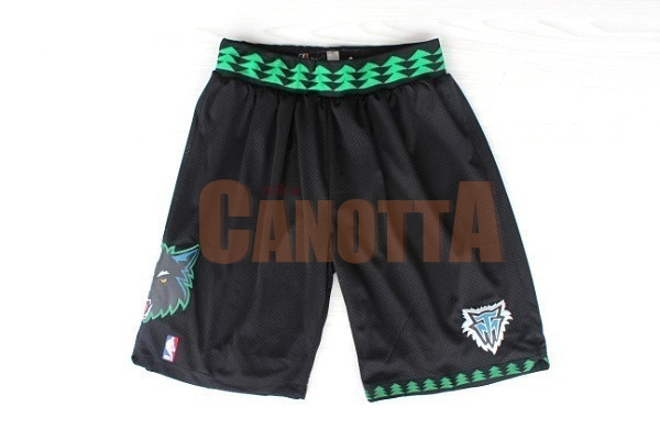 Replica Pantaloni Basket Minnesota Timberwolves Retro Nero
