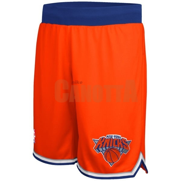 Replica Pantaloni Basket New York Knicks Arancia