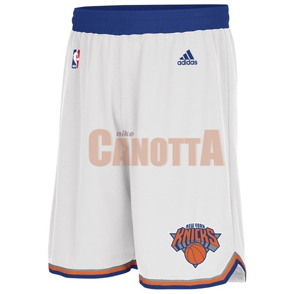 Replica Pantaloni Basket New York Knicks Bianco