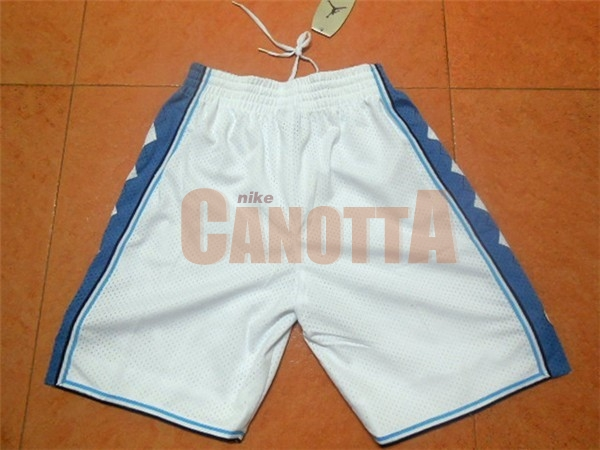 Replica Pantaloni Basket North Carolina Bianco