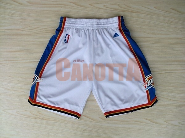 Replica Pantaloni Basket Oklahoma City Thunder Bianco