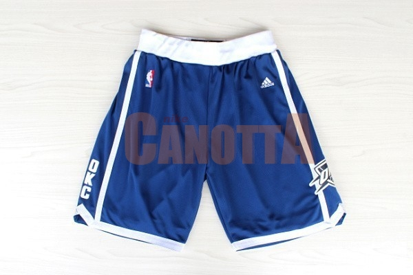 Replica Pantaloni Basket Oklahoma City Thunder Retro Blu