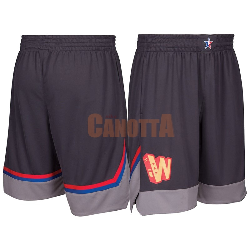 Replica Pantaloni Basket 2017 All Star Carbone